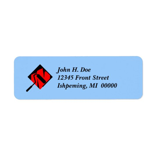 Painting Roller Tray Painter Return Address Labels