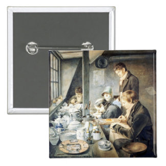 Painting Room of Mr. Baxter, No. 1 Goldsmith Stree 15 Cm Square Badge