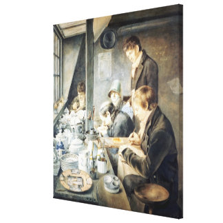 Painting Room of Mr. Baxter, No. 1 Goldsmith Stree Canvas Print