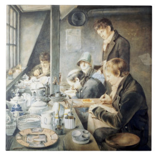 Painting Room of Mr. Baxter, No. 1 Goldsmith Stree Large Square Tile