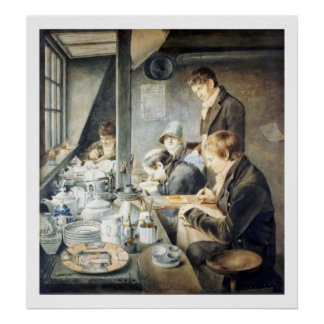 Painting Room of Mr. Baxter, No. 1 Goldsmith Stree Poster