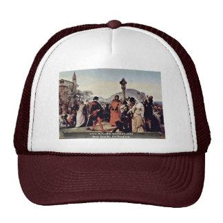 "Painting Series, ""Sicilian Evenings"" ""Scene 3 Mesh Hat"