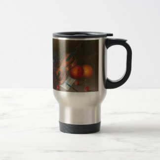 Painting Still Life Of Fruit And Violin Stainless Steel Travel Mug