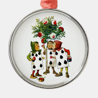 Painting The Queen's Roses in Alice in Wonderland Christmas Tree Ornaments