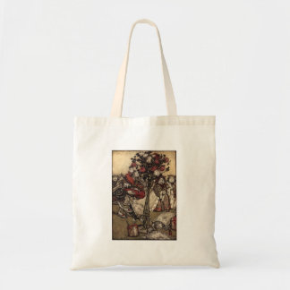Painting the Roses Budget Tote Bag