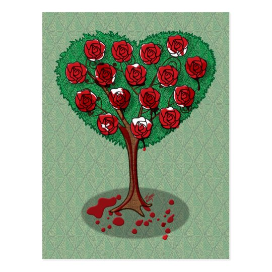 Painting The Roses Red Postcard