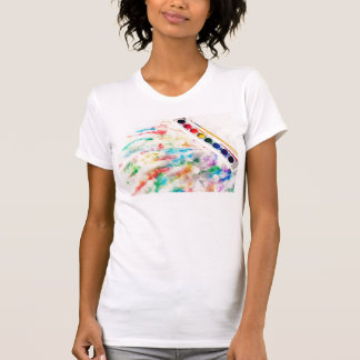painting the snow tshirt