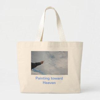 Painting toward heaven canvas bags