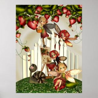 Painting Under The Strawberry Bush Fantasy Art Poster