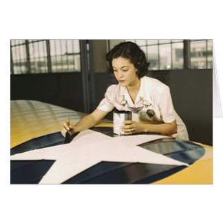 Painting Wing Insignia 1942 Greeting Card