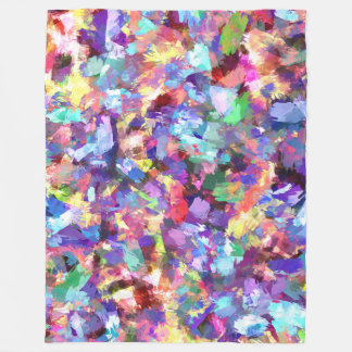 Painting With Color Fleece Blanket