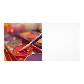 Painting With Colors Personalized Photo Card