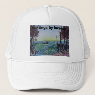 paintings by lorenzo trucker hat