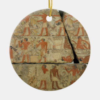 Paintings from the Tomb of Metjetji, from Saqqara, Round Ceramic Decoration