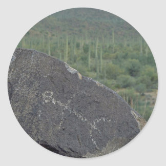 Paintings On Rocks Round Stickers
