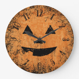 Painty Pumpkin Face Wall Clocks
