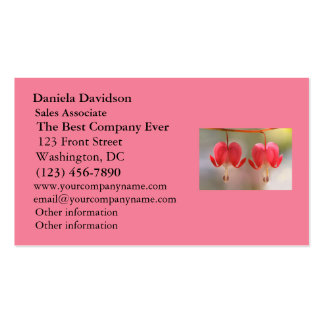 Pair of Bleeding Hearts Flowers Business Card Templates