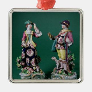 Pair of Bow figures of a Sportsman Christmas Ornament