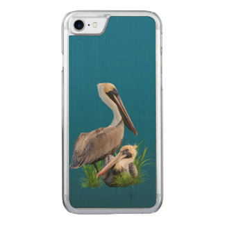 Pair of Brown Pelicans Carved iPhone 8/7 Case