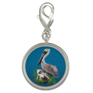 Pair of Brown Pelicans Customizable