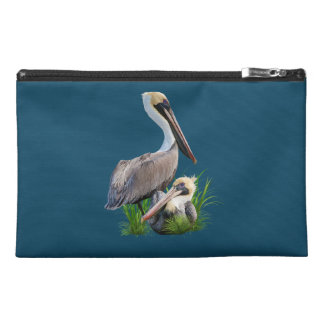 Pair of Brown Pelicans, Customizable Travel Accessories Bags