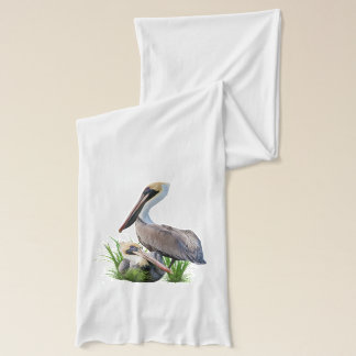 Pair of Brown Pelicans, Customizable Scarf