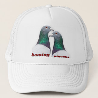 Pair of carrier pigeons trucker hat