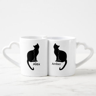 Pair of cats love mug lovers mug