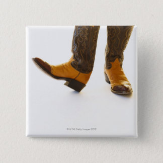 Pair of cowboy shoes 15 cm square badge