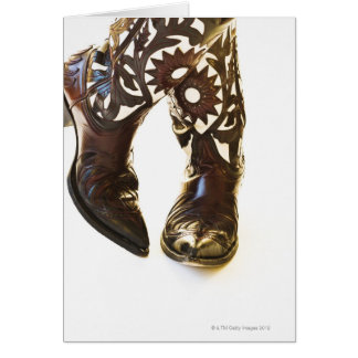 Pair of cowboy shoes 2 greeting card