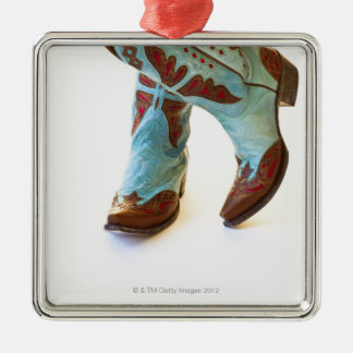 Pair of cowboy shoes 3 christmas ornament