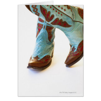 Pair of cowboy shoes 3 greeting card
