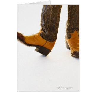 Pair of cowboy shoes greeting card