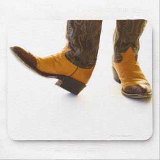 Pair of cowboy shoes mouse mat