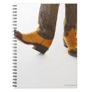 Pair of cowboy shoes spiral notebooks
