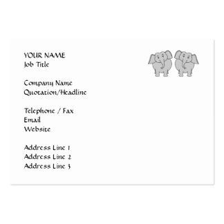 Pair of Cute Elephants. Couple. Business Cards