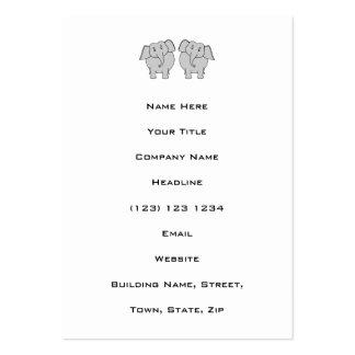 Pair of Cute Elephants. Couple. Business Card