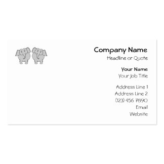 Pair of Cute Elephants. Couple. Business Card Template