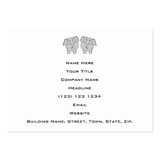 Pair of Cute Elephants. Couple. Business Card Templates