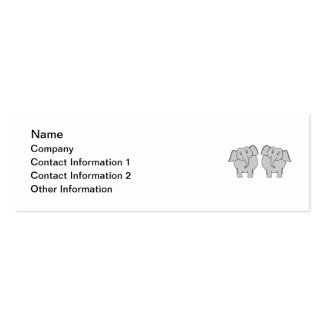 Pair of Cute Elephants. Couple. Pack Of Skinny Business Cards