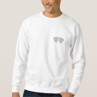Pair of Cute Elephants. Couple. Sweatshirt