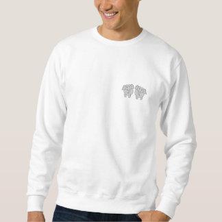 Pair of Cute Elephants. Couple. Sweatshirt