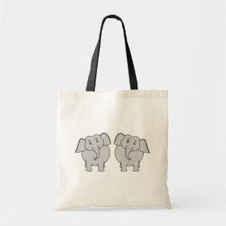 Pair of Cute Elephants. Couple. Tote Bag