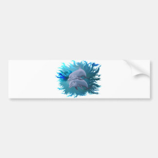 Pair of dolphins bumper sticker