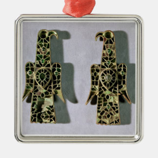 Pair of Eagle-Shaped Brooches (metal and enamel) Christmas Ornament