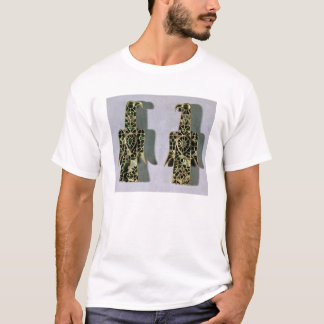 Pair of Eagle-Shaped Brooches (metal and enamel) T-Shirt