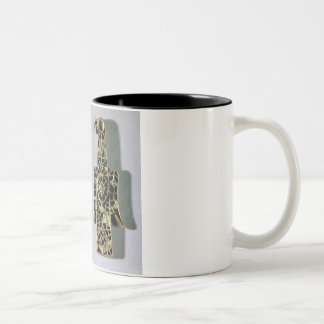 Pair of Eagle-Shaped Brooches (metal and enamel) Two-Tone Coffee Mug