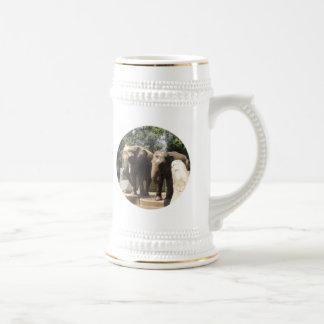 Pair of Elephants Beer Stein 18 Oz Beer Stein