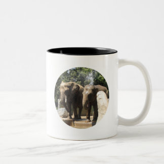 Pair of Elephants Ceramic Coffee Mug