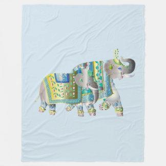 Pair Of Elephants Fleece Blanket